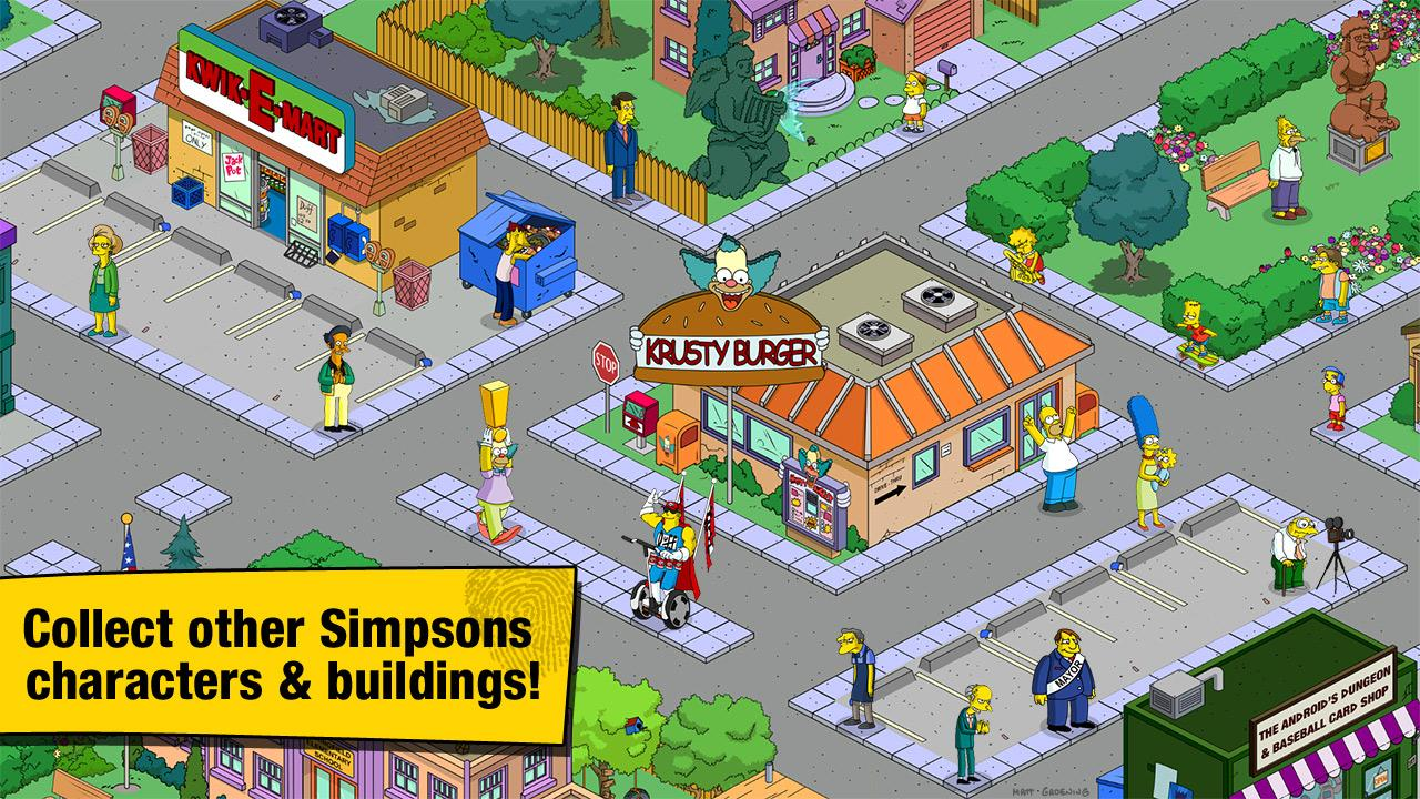 Simpsons Tapped Out Town Layout
