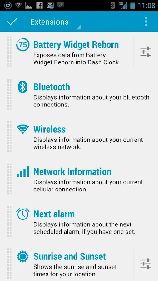 Dashclock Bluetooth Extension- screenshot