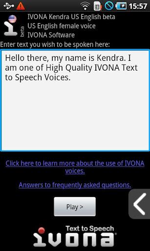 IVONA Text-to-Speech HQ Screenshot