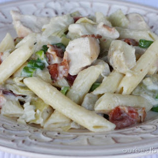 Baked Chicken-Bacon Alfredo