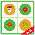 Fruits Vegetables Memory Match icon