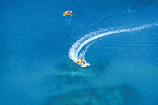 Parasailing is a popular activity for travelers to Bermuda.