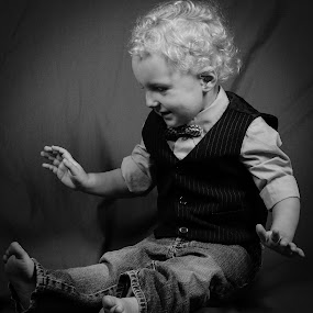 by Beckie Caughman - Black & White Portraits & People ( studio, black and white, boys,  )