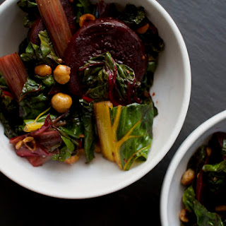 Warm Beet, Swiss Chard, and Hazelnut Salad.