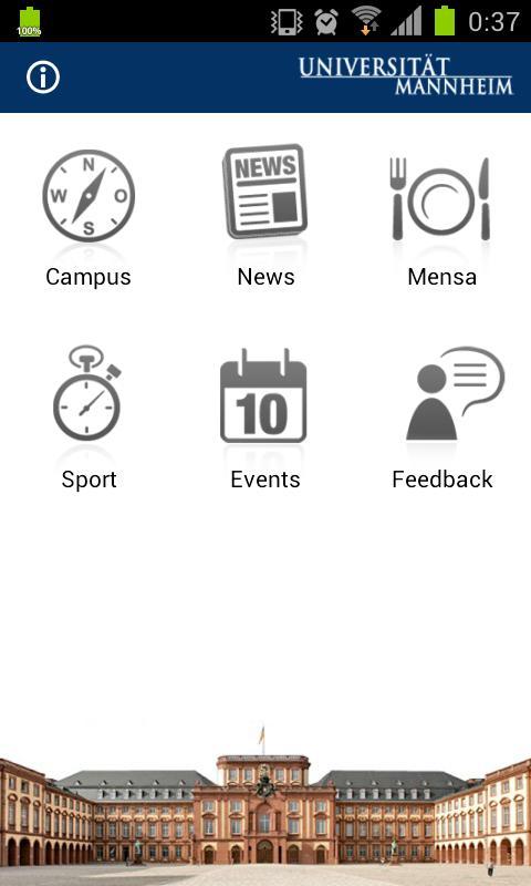 Universität Mannheim- screenshot