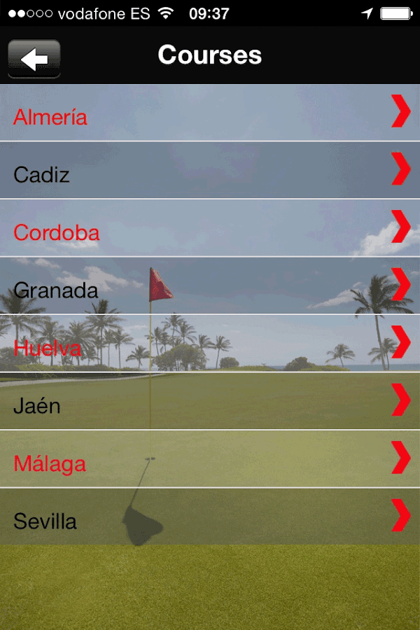 Golf Guide Costa Del Sol- screenshot
