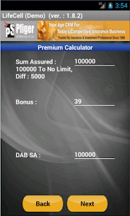 LifeCell Premium Calculator - screenshot thumbnail