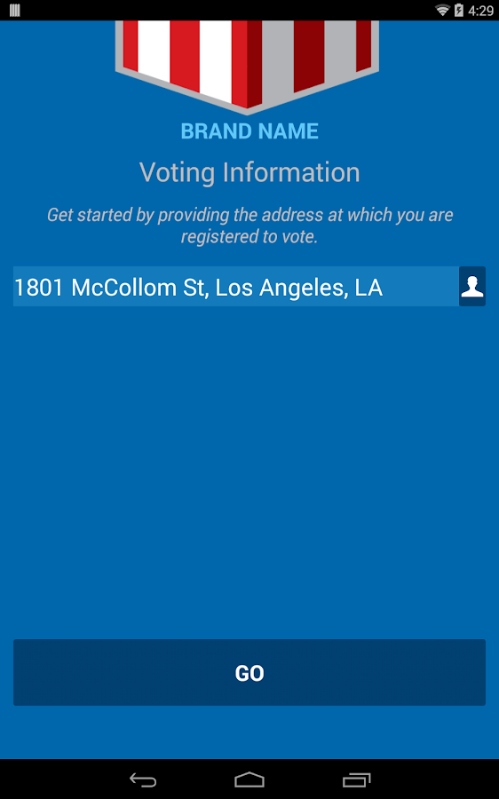 Voting Info Project- screenshot