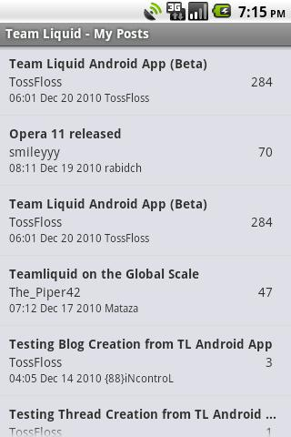 TeamLiquid App (Beta) - screenshot