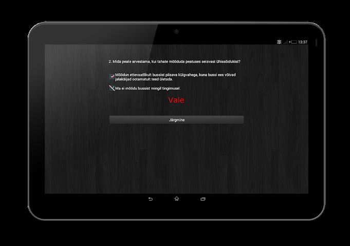 Screenshots for Liiklustest