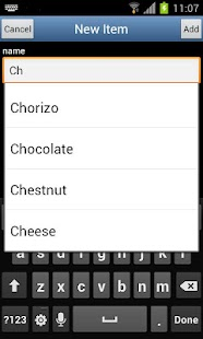 Grocery list Courzeo - screenshot thumbnail