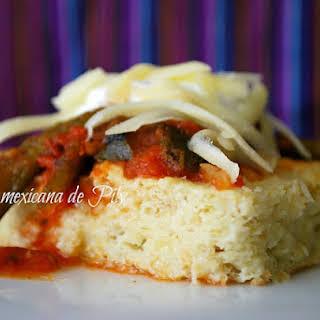 Savory Corn Tart with Poblano Chili Sauce.