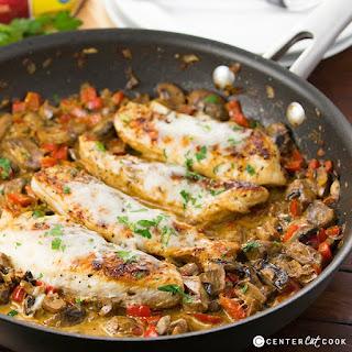 One Skillet Cheesy Italian Chicken