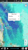 Screenshot of NOAA Snow Forecast