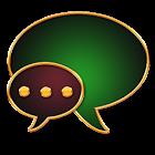 GO SMS Golden Vintage Green icon