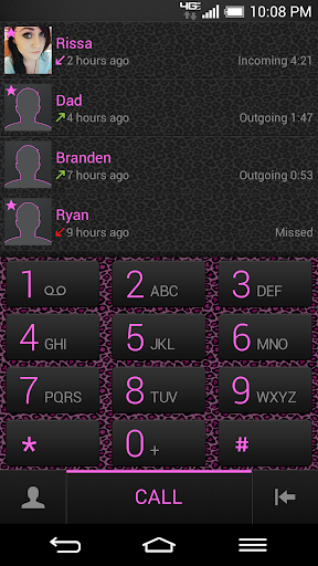 ExDialer Pink Leopard Theme