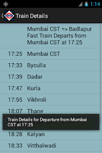 Mumbai Local Train Timetable - screenshot thumbnail