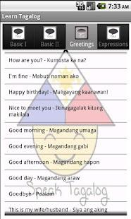 Learn Tagalog- screenshot thumbnail