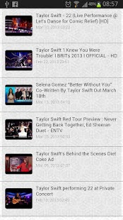 Taylor Swift Song Lyrics - screenshot thumbnail