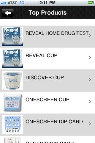 Drug Test Info - screenshot