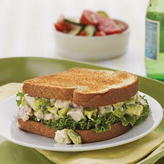 Avocado Chicken Salad Sandwiches.