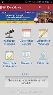 AICPA Conferences - screenshot thumbnail