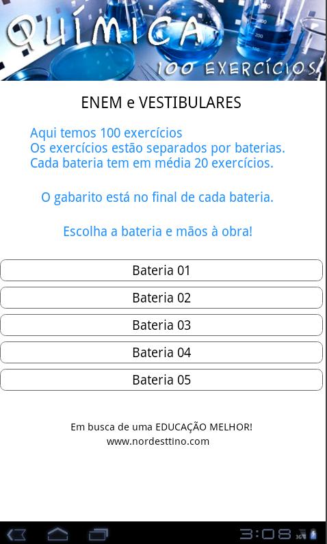 QUÍMICA 100 EXERCÍCIOS- screenshot