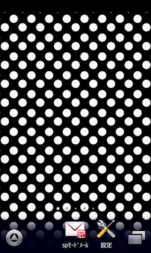 かわいい黒白♪水玉♪【アンドロイド壁紙】ver21