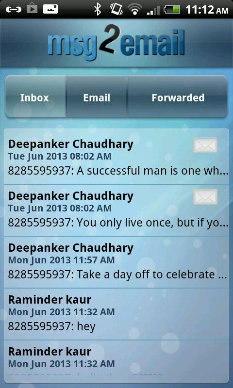 msg2email- screenshot