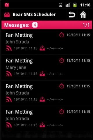 SMS Scheduler Pro- screenshot