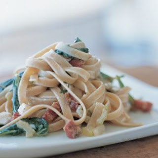 Whole Wheat Fettuccine with Chard