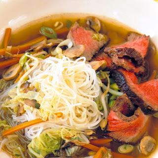 Seared Beef and Noodle Soup.