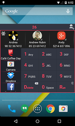 App Dialer – Contact Search