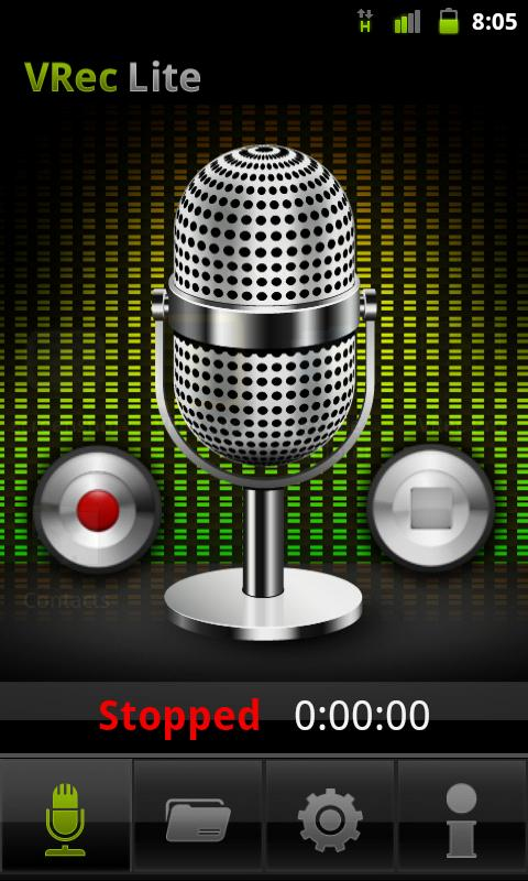 VRec Lite - Voice Recorder- screenshot