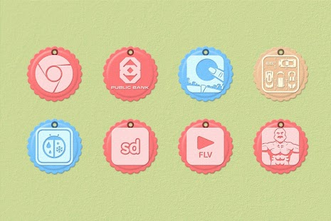 Paper Tag 1200 Icon Pack Theme - screenshot thumbnail