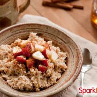 Apple-Cinnamon Slow Cooker Oatmeal.