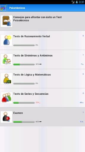 Psicotécnicos. Tests