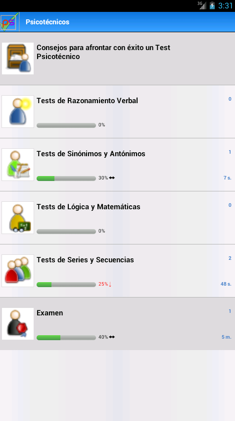 Psicotécnicos. Tests - screenshot