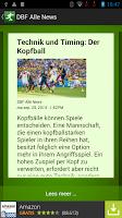 Screenshot of FußBall News