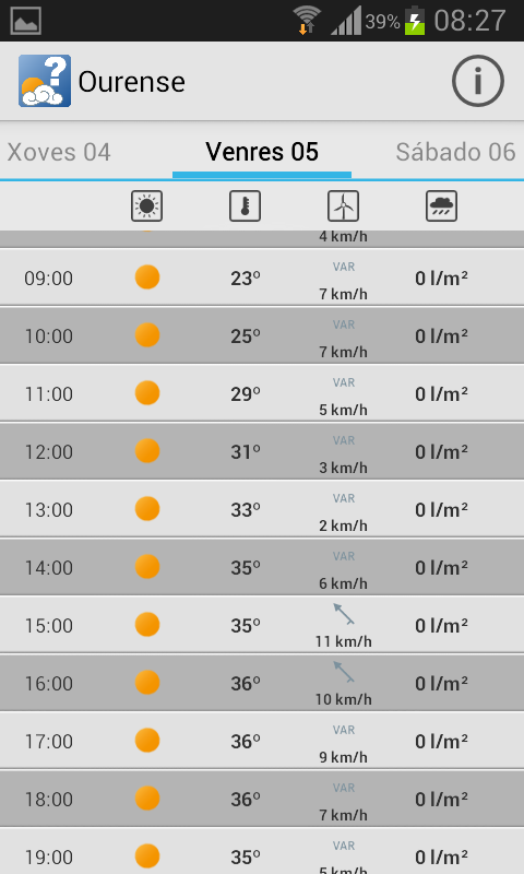 MeteoSIX Mobile - screenshot