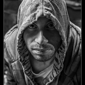 A self portrait of my other self by Thomas Crown - Black & White Portraits & People ( Selfie, self shot, portrait, self portrait )