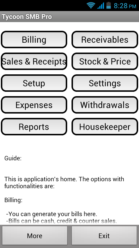 Use Of Sales Invoice Tycoon Smbinvoiceposbilling  Android Apps On Google Play Photographers Invoice Template Pdf with Breakfast Receipt Tycoon Smbinvoiceposbilling Screenshot Tj Maxx Return Without Receipt