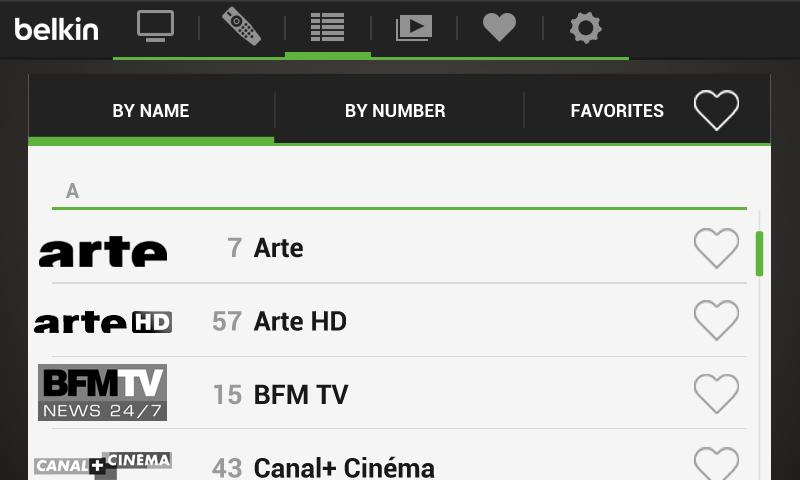 Belkin @TV for Android Phones - screenshot