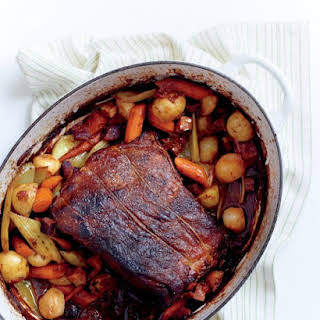 Pot Roast with Bacon and Vegetables.