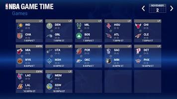 Screenshot of NBA Game Time for Google TV