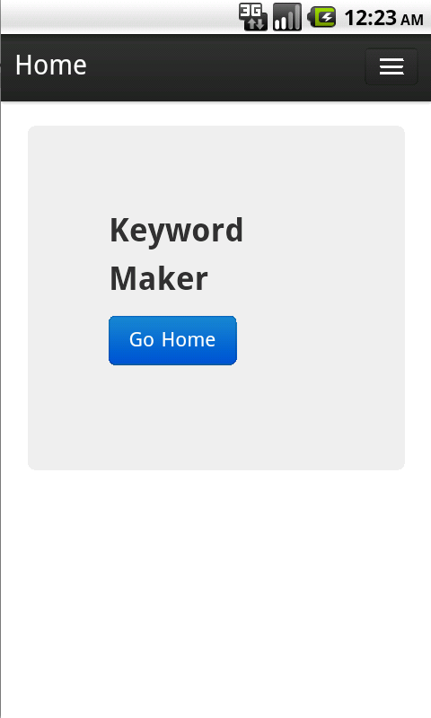 Keyword Maker - screenshot
