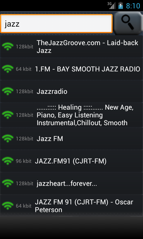 playStream Internet Radio - screenshot