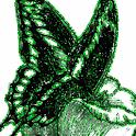 Butterfly Green Glitter Live W logo