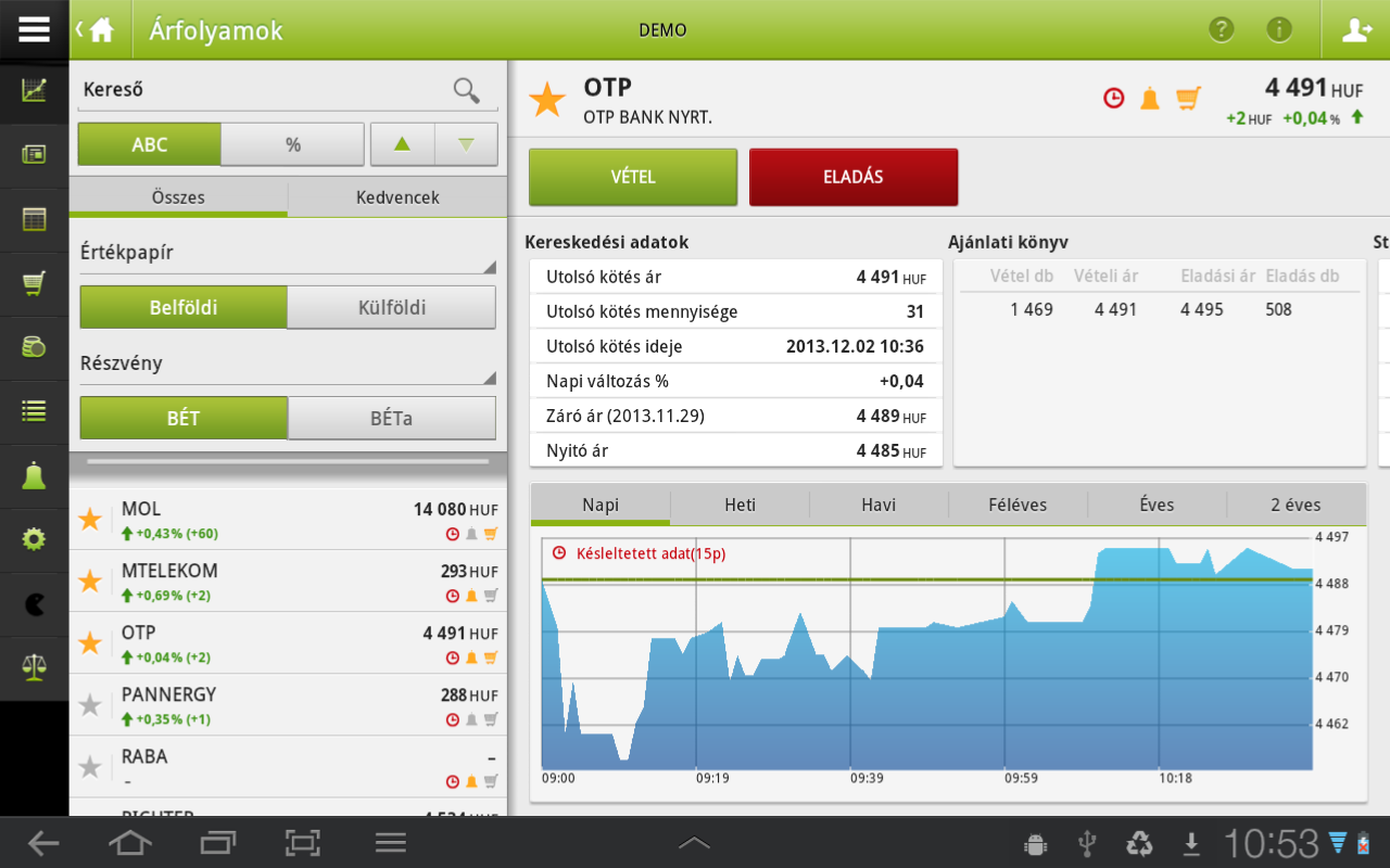 OTP SmartBroker- screenshot