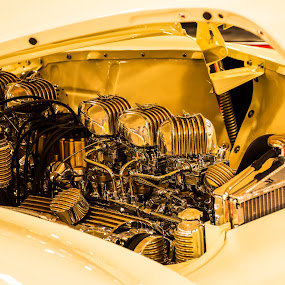 Gold by Boyd Smith - Artistic Objects Still Life ( engine, carb, buick, coil, hood )